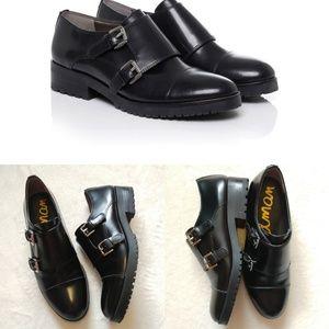 Sam Edelman Black Melanie Leather Double Buckle